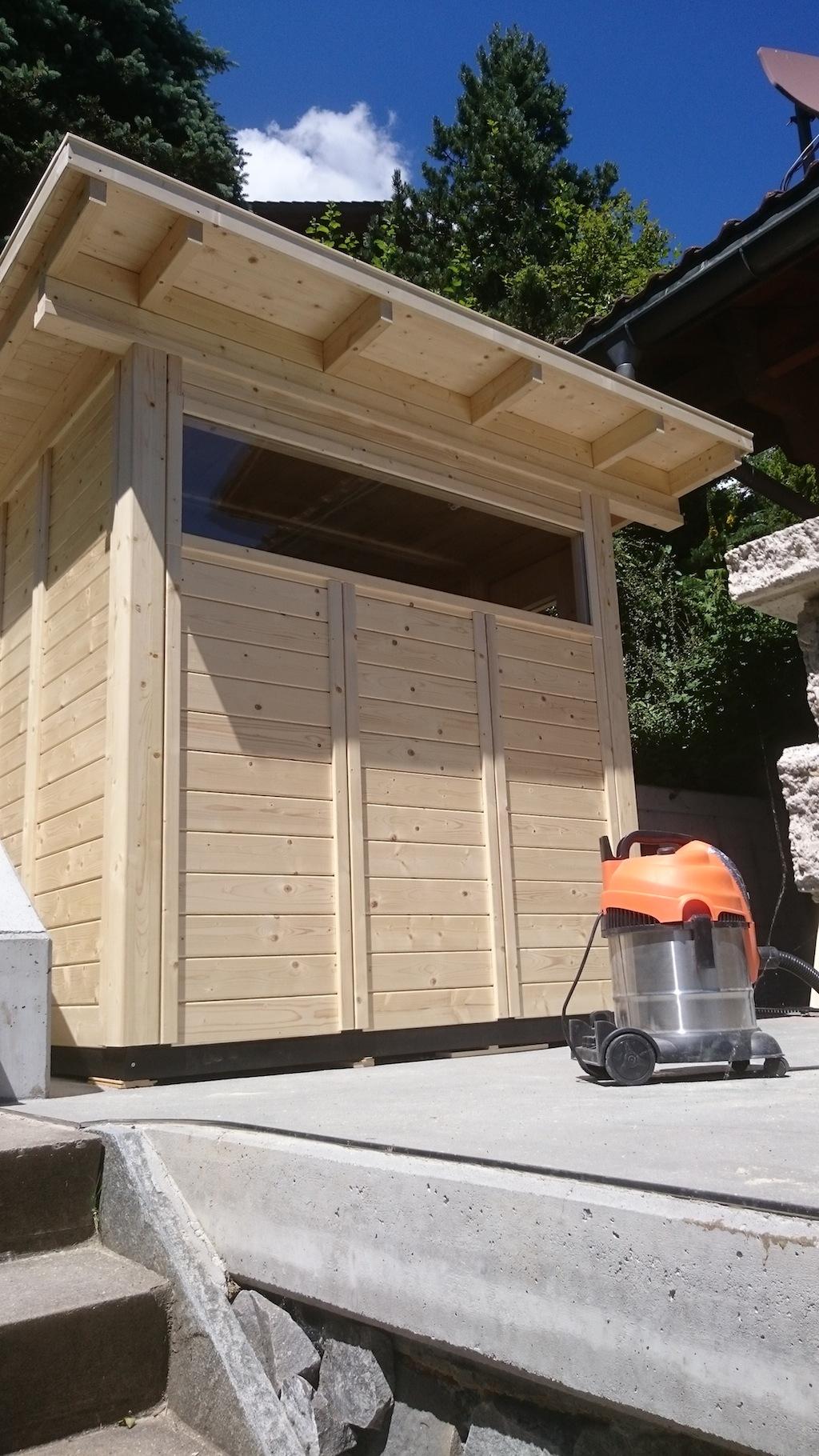 Gartensauna mit fenster - Sauna fenster ...