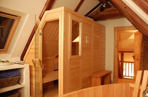 sauna dachschraege 300 199. Black Bedroom Furniture Sets. Home Design Ideas